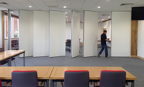 wall with individual panels this office wall partition has a large